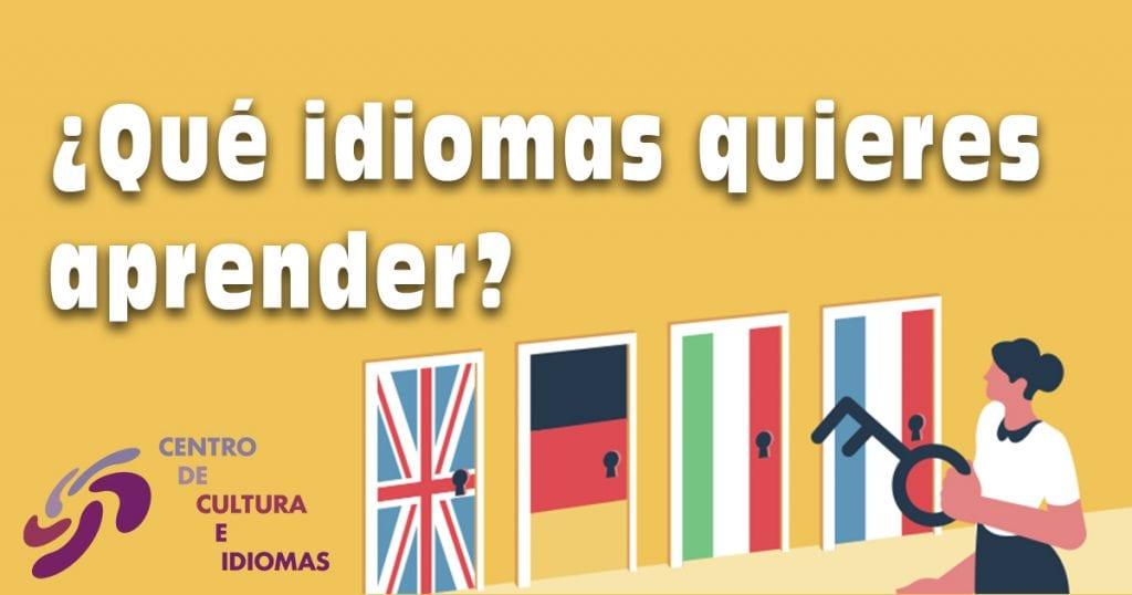 ¿Qué idiomas quieres aprender?